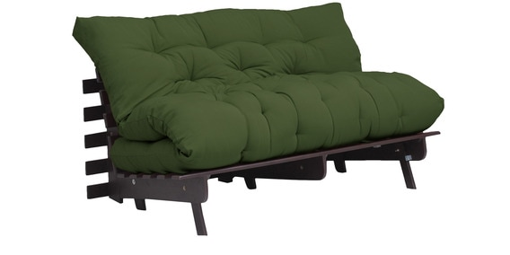 Work Double Futon With Mattress In Green Colour By Auious