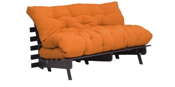 Work Double Futon With Mattress In Yellow Colour By Auious