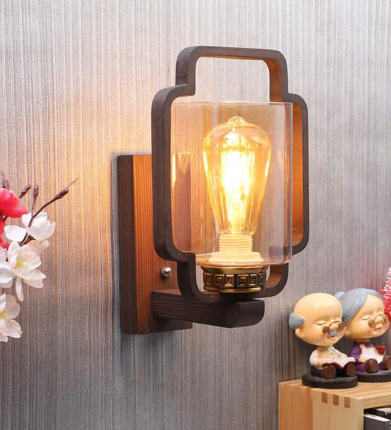 Buy Wooden Wood Wall Light By Eliante By Jainsons Lights Online Novelty Wall Sconces Wall Lights Lamps Lighting Pepperfry Product