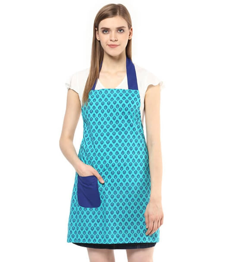 Wobbly Walk Paisley Print Cotton Kitchen Apron