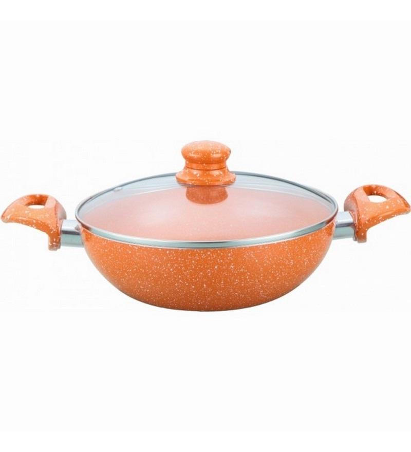 Aluminium Orange Kadhais & Woks by Wonderchef