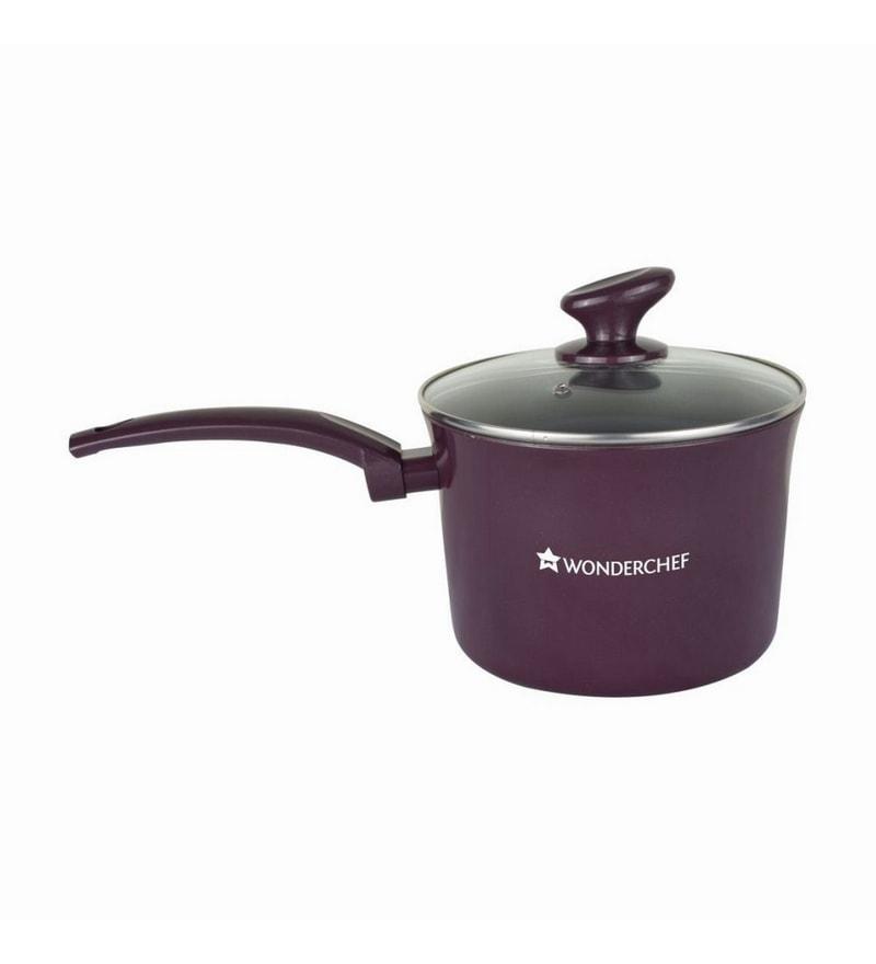 Aluminium Purple Sauce Pan by Wonderchef