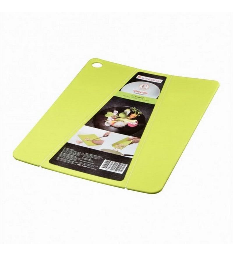 Wonderchef Chop Ez Green Plastic Chopping Board