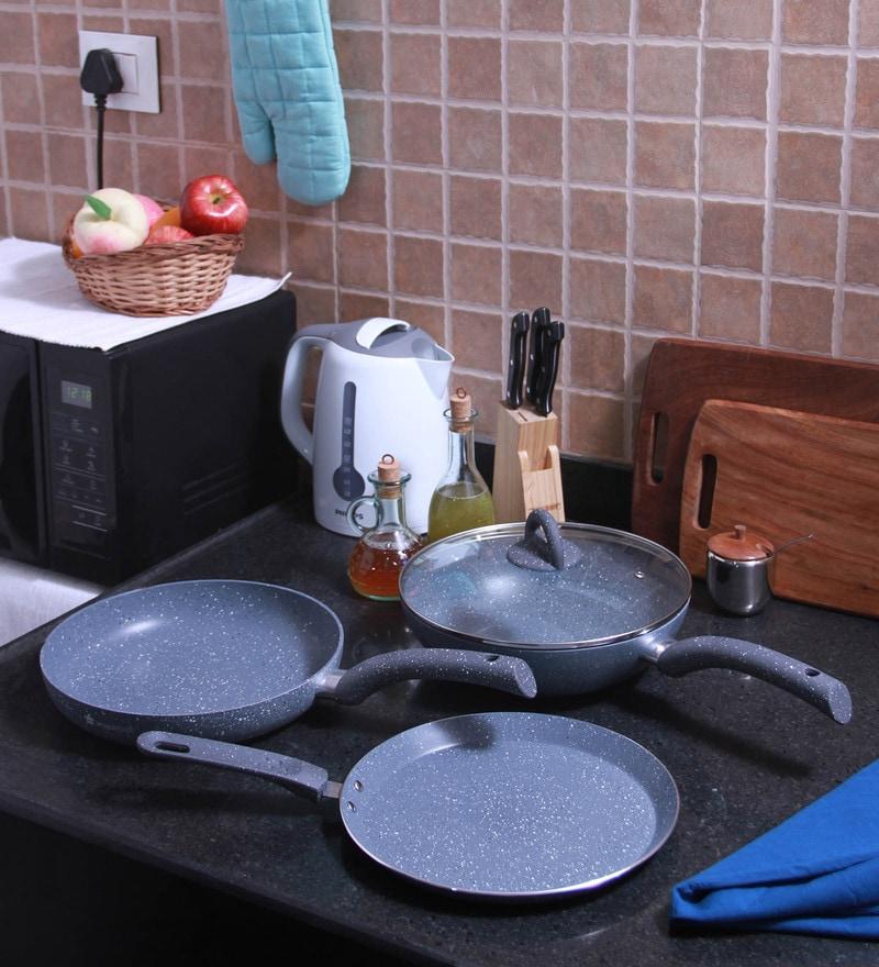 Wonderchef Granite Cookware Set with Free Dosa Tawa