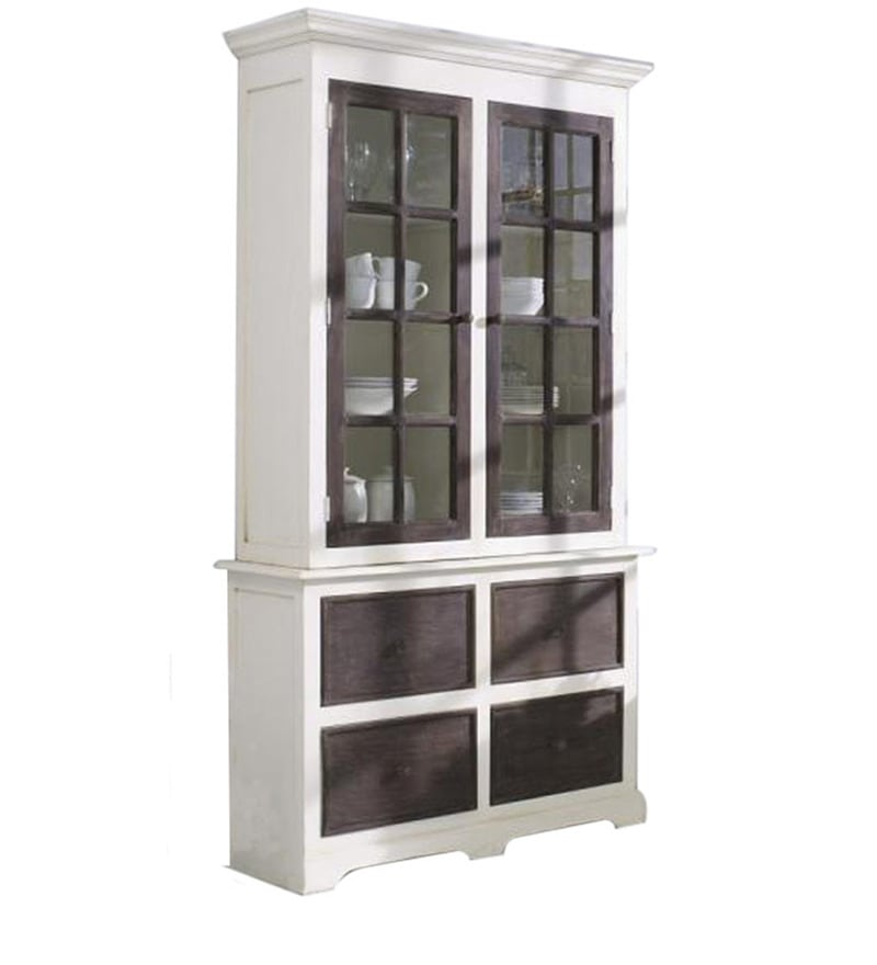 Buy Glass Door Crockery Cabinet By Wood Dekor Online