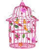 Wonderland Big Size Decorative Bird Cage Pink Color with Metal Birds inside