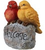 Birds on Rock with Welcome Sign by Wonderland
