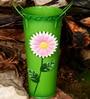 Wonderland Metal Flower Vase in Green