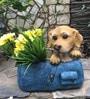 The Dog in the Bag Flower Pot by Wonderland
