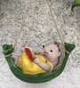 The Hedgehog on Hammock Reading Book Hanging Dcor by Wonderland