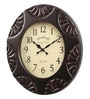 Black Glass & MDF 15.7 Inch Round Wall Clock by Wood Craft