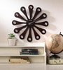 Wood Craft Black Glass & MDF 15.9 Inch Round Wall Clock