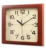 Brown Glass & MDF 12.6 x 1.5 x 10.6 Inch Wall Clock by Wood Craft