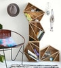 Abilio Set Of 4 Wall Shelve in Brown by CasaCraft