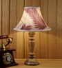 Beige Poly Silk Table Lamp by Woody Lamp House