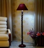 Woody Lamp House Maroon Poly Cotton Floor Lamp