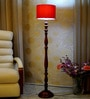 Red Poly Cotton Floor Lamp by Woody Lamp House