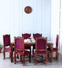 Worrall Six Seater Dining Set in Honey Oak Finish by Amberville