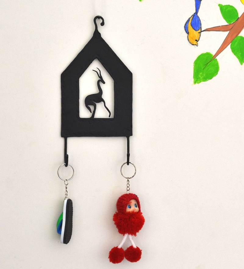 Wrought Iron 4 x 1 x 8.5 Inch Key Chain Holder by Chinhhari Arts