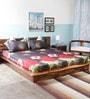 Wraps N Drapz Multicolour Nature & Florals Cotton Queen Size Bed Sheets - Set of 3