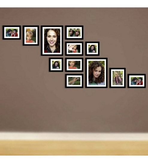 ddd999e35c1 Buy Black Synthetic Wood X10 Collage Frame by Snap Galaxy Online - Collage  Photo Frames - Collage Photo Frames - Wall Art - Pepperfry Product