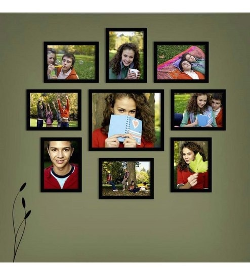 Black Synthetic Wood X14 Collage Frame By Snap Galaxy