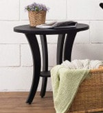 Xeno Round Coffee Table in Black Colour