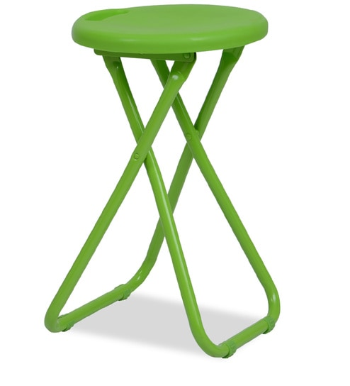 Admirable Xinji Fibre Folding Stool In Green Colour By Durian Caraccident5 Cool Chair Designs And Ideas Caraccident5Info