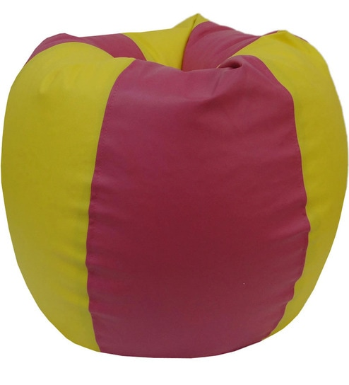 Incredible Classic Xl Bean Bag Only Cover In Yellow And Pink Colour By Orka Uwap Interior Chair Design Uwaporg