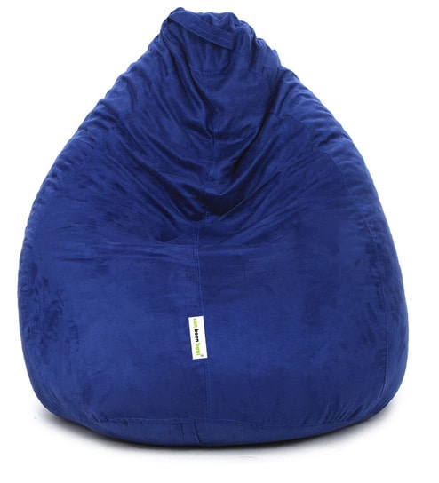 Classic L Bean Bag With Beans In Blue Colour By Can