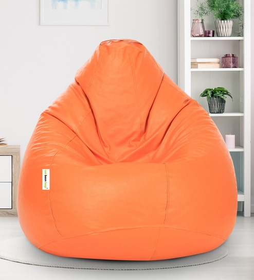 Swell Xxxl Classic Leatherette Bean Bag Cover In Orange Colour By Can Pabps2019 Chair Design Images Pabps2019Com