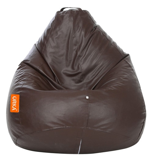Super Classic Xxxl Bean Bag With Beans In Brown Colour By Orka Unemploymentrelief Wooden Chair Designs For Living Room Unemploymentrelieforg