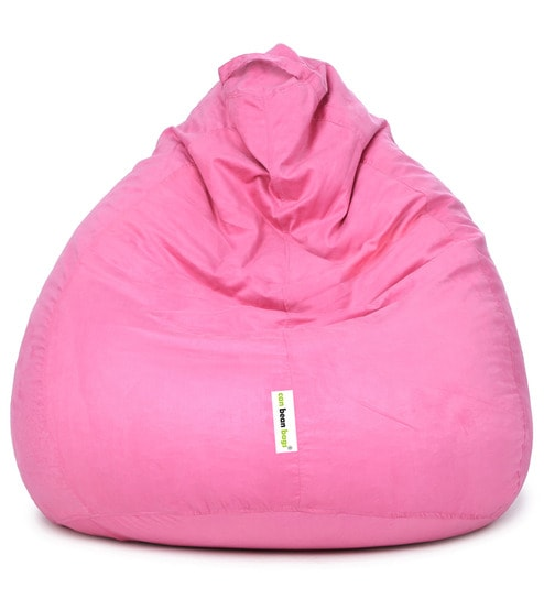 97afb91aa86 XXXL Suede Classic Bean Bag Cover in Light Pink Colour by Can
