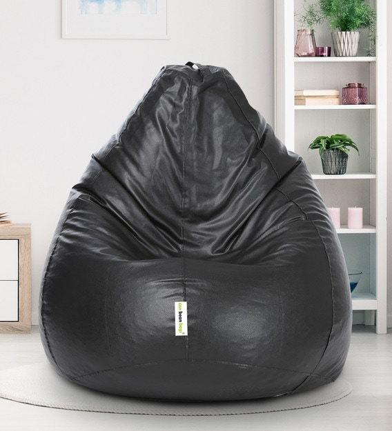 Buy Classic Xxl Bean Bag With Beans In Black Colour By Can Online Gaming Bean Bags With Beans Bean Bags Furniture Pepperfry Product