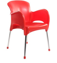 Xylo Cafeteria Chair Set Of Two In Red Colour