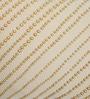 Yamini Beige & Golden Cotton 12 x 20 Inch Beadwork Cushion Cover