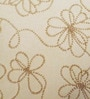 Yamini Beige & Golden Cotton 16 x 16 Inch Floral Beadwork Cushion Cover