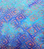 Yamini Blue & Orange Cotton 16 x 16 Inch Cushion Cover - Set of 2