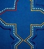 Blue Cotton 20 x 12 Inch Moroccan Embroidered Cushion Cover by Yamini