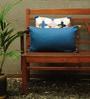 Yamini Blue Cotton 20 x 12 Inch Plain with Tassels Cushion Cover