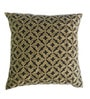 Yamini Charcoal Cotton 16 x 16 Inch Tile Embroidered Cushion Cover