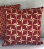 Yamini Maroon Cotton 16 x 16 Inch Diamond Embroidered Cushion Cover