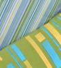 Yamini Multicolour Cotton 12 x 20 Inch Stripe & Geometric Embroidered Cushion Cover - Set of 2