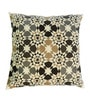 Yamini Multicolour Cotton 16 x 16 Inch Floral Embroidered Cushion Cover