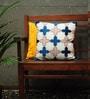 Yamini Multicolour Cotton 16 x 16 Inch Moroccan Stripes Embroidered Cushion Cover