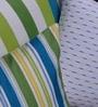 Yamini Multicolour Cotton Bright Stripe & Textured Cushion Cover - Set of 3
