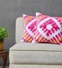 Yamini Multicolour Velvet 16 x 16 Inch Tie & Dye Cushion Cover - Set of 2