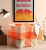 Yamini Plastic 5 L Orange & White Laundry Basket