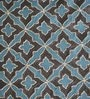 Yamini Teal Cotton 16 x 16 Inch Tile Embroidered Cushion Cover