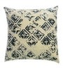 Yamini White Cotton 16 x 16 Inch Geometric Foil Printed Cushion Cover